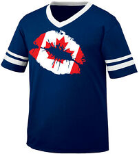 Canadian Flag Colors Canada Ripped Torn Shirt Country Team CAN Men/'s T-Shirt