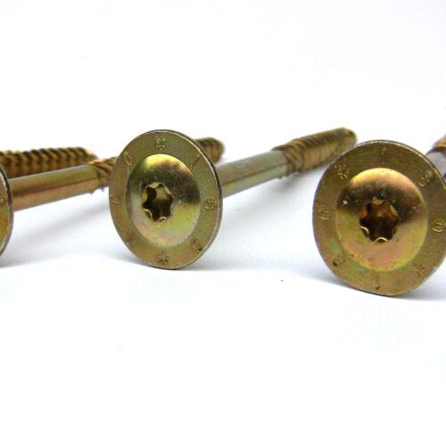 Tellerkopfschrauben Sparrenschrauben Konstruktionsschrauben Ø 8-10mm Schrauben b
