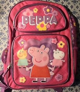 "Peppa Pig 16/"" Large School Backpack Book Bag New"