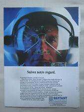6/1991 PUB SEXTANT AVIONIQUE HELMET VISUEL CASQUE TIGRE HELICOPTER FRENCH AD