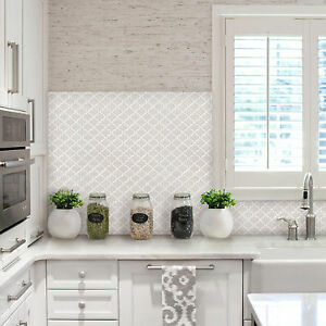 Details about Self Adhesive Wall Tiles Peel And Stick Backsplash Kitchen  Bathroom Moroccan