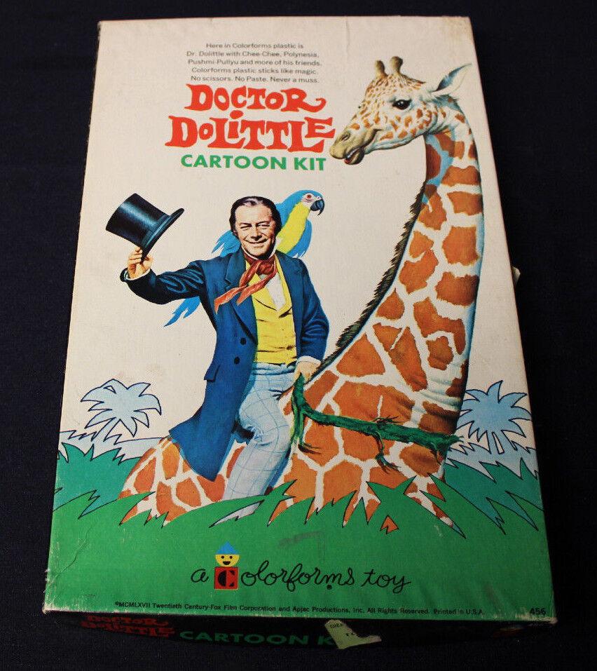 1967 DOCTOR DR DOLITTLE COLORFORMS BOX SET COMPLETE W  BOOKLET EXCELLENT SHAPE