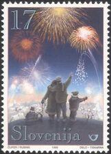 Slovenia 1999 Christmas/Seasonal Greetings/Fireworks/Animation 1v (n44813)
