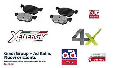 X50268 XENERGY Serie 4 pastiglie posteriori Opel Astra H 1.7 CDTI 59-74-81-92 Kw
