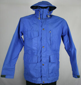classic new selection biggest discount Details about 70s Vintage Eddie Bauer Gore-Tex Blue Hooded Rain Coat Jacket  Mens S USA