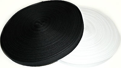 BLACK OR WHITE BUNTING APRON ETC CHOOSE COLOUR /& LENGTH COTTON TAPE 13MM