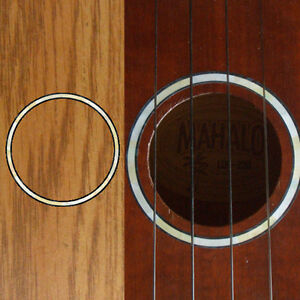 Ukulele Rosette (White Pearl) Purflinng Inlay Sticker Decal