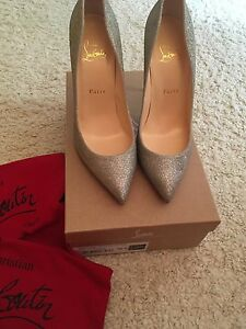 Christian-Louboutin-pigalle-Follies-100-Sparkle-Bombas-Tacones-Zapatos
