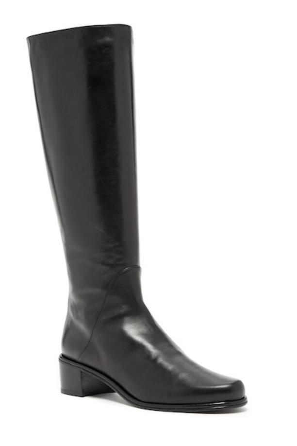 Stuart Weitzman Womens Black Nappa Rambler Boot Sz 9.5 7716
