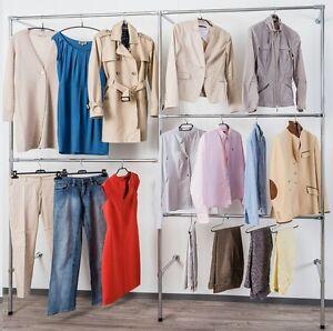 Begehbarer kleiderschrank kleiderstange  250 cm HOCH BEGEHBARER KLEIDERSCHRANK KLEIDERSTÄNDER KLEIDERSTANGE ...