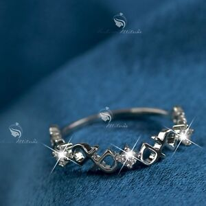 18K-White-Gold-GF-women-039-s-wedding-Ring-Simulated-Diamond-slim-fashion