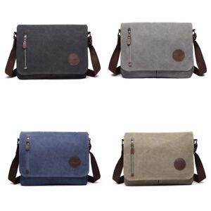 663b28f0c1 Men Canvas Messenger Bag Satchel School Cross Body Shoulder Work Bag ...