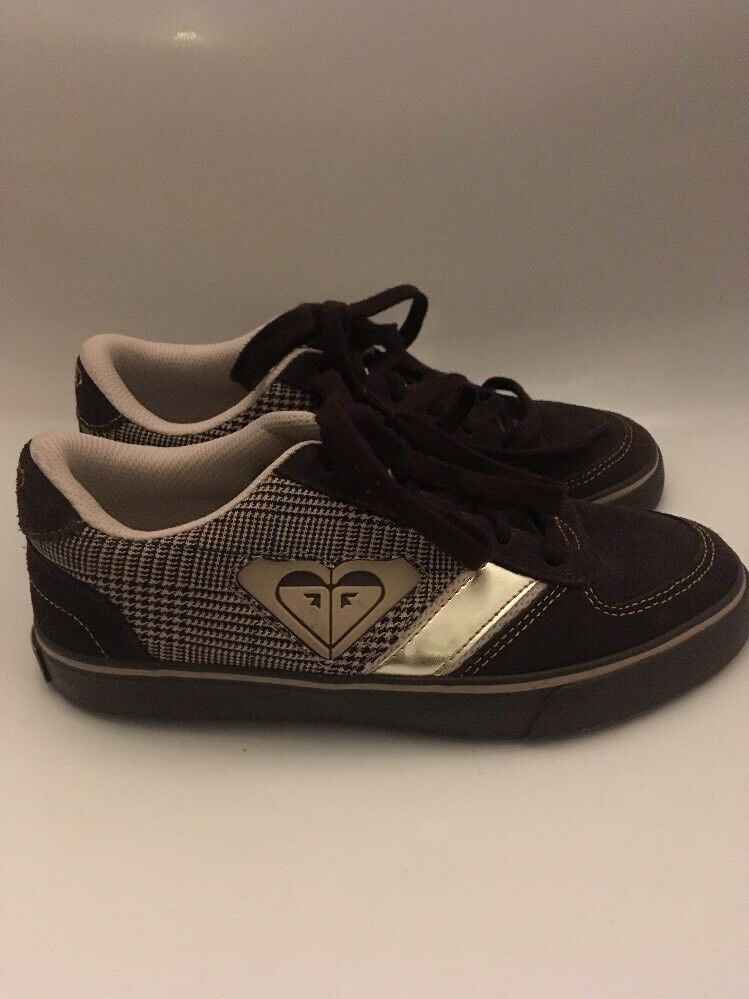 Girls Ladies ROXY Trainers Brown Suede Size 4