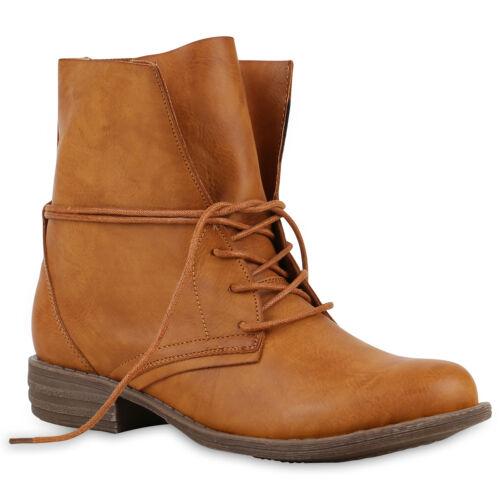 36-42 für Herbst /& Winter 890304 Trendy Damen Stiefeletten Worker Boots Gr