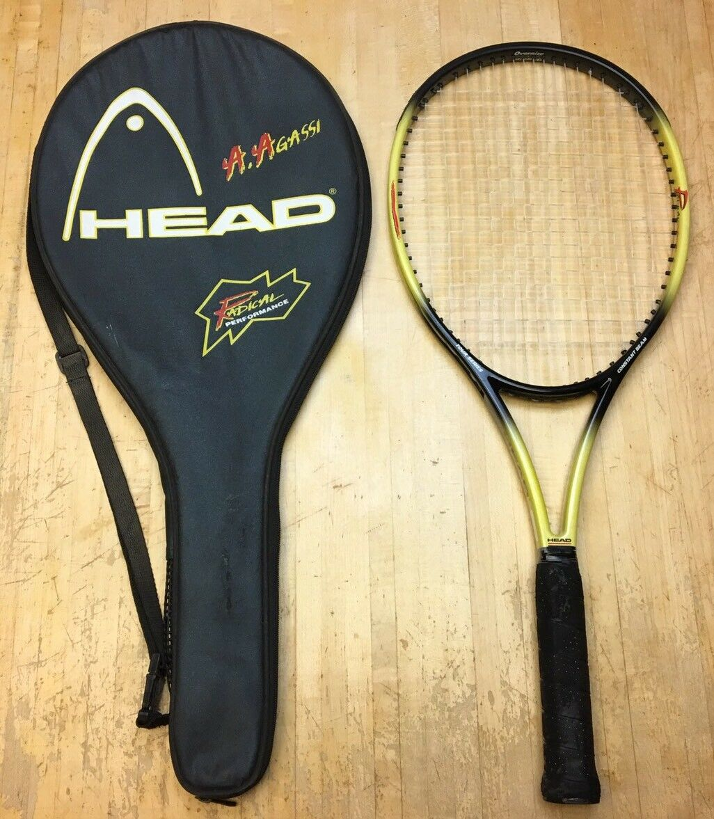 RARE Head Radical Trysis 260 Agassi OS Tennis Racquet 4 3 8 (WITH Case)