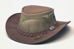 82b3fe7a5c0 Image is loading Aussie-Chiller-Bushie-Mesh-Hat-Soakable-Chamois-Outdoor-