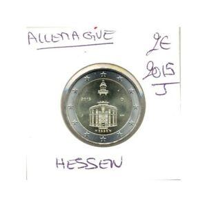 ALLEMAGNE 2015 J 2 EURO COMMEMORATIVE HESSEN SUP