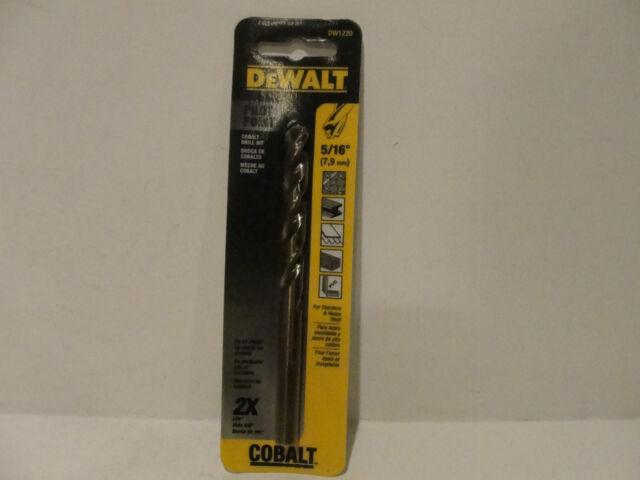 DEWALT DW1220 5//16-Inch Cobalt Split Point Twist Drill Bit