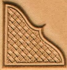 3D BASKET WEAVE CORNER LEATHER STAMP 8535-00 Tandy Stamping Tool Stamps Tools
