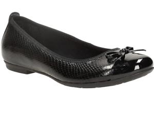 NEW Clarks Tizz Hope Black School Shoes Size 6 1//2 G