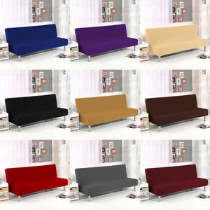 Incredible Armless Slipcover Folding Sofa Bed Cover Elastic Stretch Download Free Architecture Designs Scobabritishbridgeorg