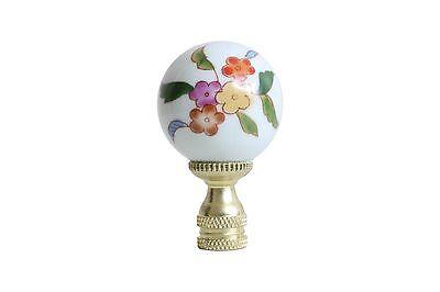 Multicolor Floral Pattern Porcelain Ball Lamp Finial
