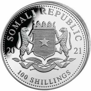 2021-Somalia-Elephant-100-Shillings-1-oz-Silver-9999-Fine-Coin-Brilliant-UNC