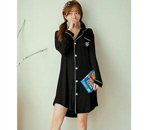 5730303681 New Ladies Women Cute Diamond Black Shirt Style Nightie Nightdress ...