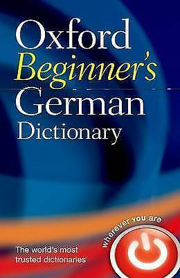"""AS NEW"" , Oxford Beginner's German Dictionary Book"