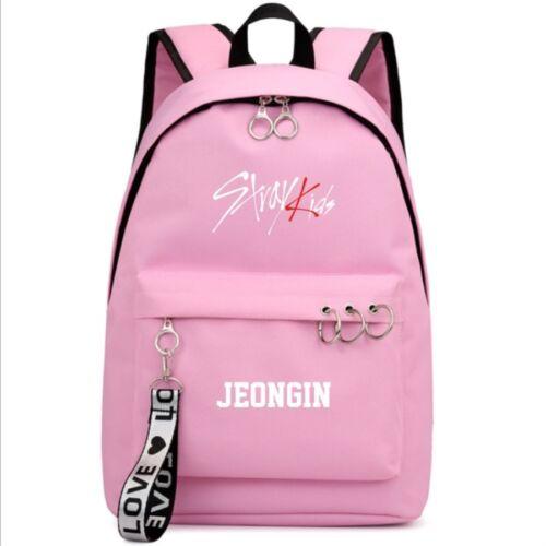 Stray Kids Members Backpack Minho Woo Jin Travel Sports Rucksack Shoulder Bag