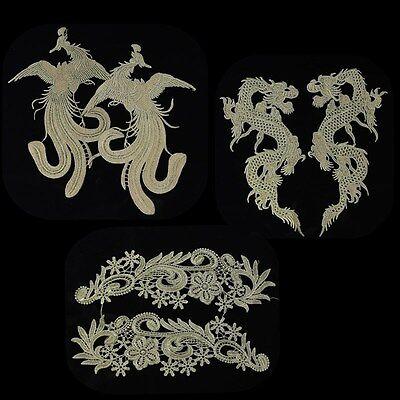 1 Paar Spitzborte Gold Lace Spitze Borte Strickenwerk Band Handarbeit Verzierung