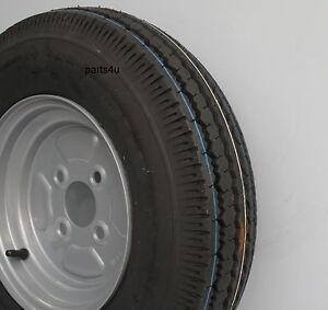 Komplettrad Rad 4.50-10 400kg Lochkreis 4x100 Anhänger Reifen 4.50x10 76M Stema