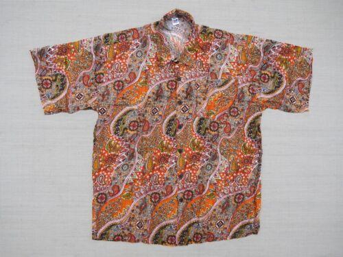 Hawaiihemd Hawaii Hawai Hemd orange Blumen Paisley