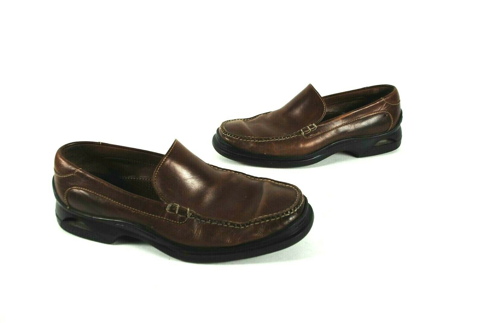 Cole Haan Air 07184 Santa Barbara Mens Brown Leather Slip On Loafers shoes 10M