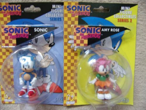 SONIC and AMY ROSE Mini Figure Collectibles Figures 6cm Sonic the Hedgehog F4F
