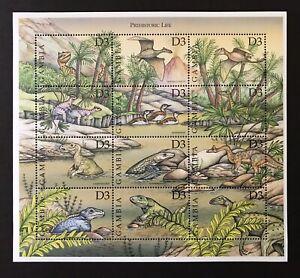 Gambie Dinosaure Timbres Feuille 12 V 1999 Neuf Sans Charnière Préhistorique La Vie Oiseaux Marine Reptile-afficher Le Titre D'origine