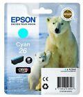 Original Epson 26 T2612 Cyan Polar Bear Ink Cartridge T261240