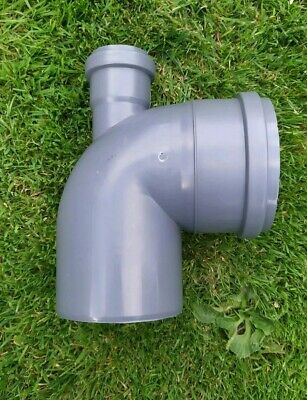 110mm Soil Pipe Elbow Bend 90° Single Socket with 50 mm Inlet Back Sewer Waste