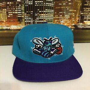 save off 86c05 7f7e8 Image is loading Mitchell-amp-Ness-Vintage-Nba-Basketball-Charlotte-Hornets-