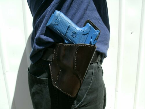 Leather Pancake OWB Holster for Springfield 1911 Champion Operator Compact USA