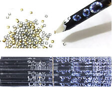 1pcs Wax Resin Pencil Rhinestone Picker Up Gem Jewel Bead Nail Art Craft Tool
