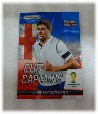 2014 Panini Prizm World Cup Blue Red Wave Captains Steven Gerrard England #27