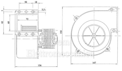 Ventilateur Centrifuge 2800 Tours Chaudière Forge Moteur Électrique 80 W