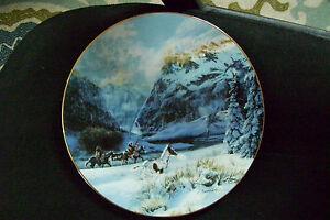 Vintage-W-L-George-Porcelain-034-Running-With-The-Wind-034-1993-Julie-K-Cole-8-039-Plate