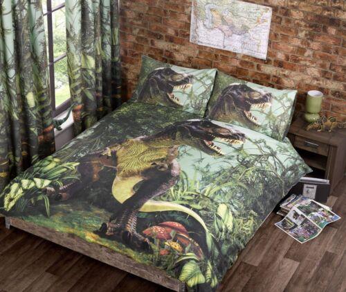 Jurassic Dinosaur T-Rex Duvet Quilt Cover Bedding Set /& Pillowcases in 2 Sizes