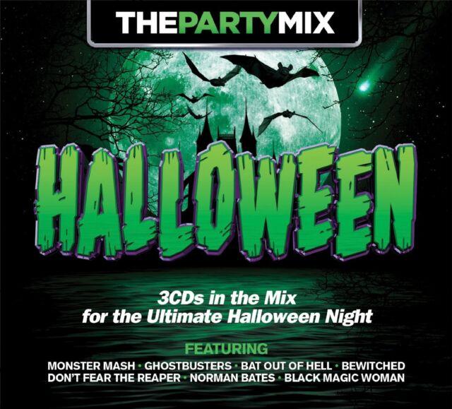 PARTY MIX HALLOWEEN 3 CD NEW! SANTANA/FRANK SINATRA/ALICE COOPER/+