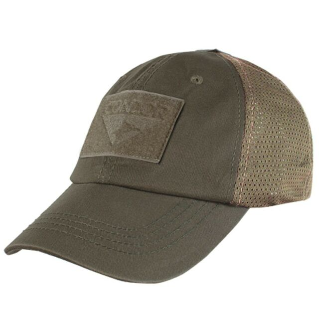 5cdd85e427889 Condor TCM 019 Brown Mesh Tactical Cap Contractor Shooter Hat W 3 Velcro  Panels
