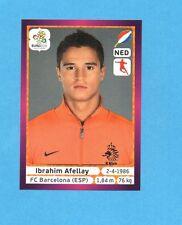 PANINI-EURO 2012-Figurina n.184- AFELLAY - OLANDA -NEW-DARK BOARD