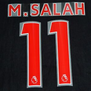 on sale 8e7cb 37ab4 Details about Liverpool M.Salah 11 Premier League Football Shirt Name Set  Sporting ID 18/19 A