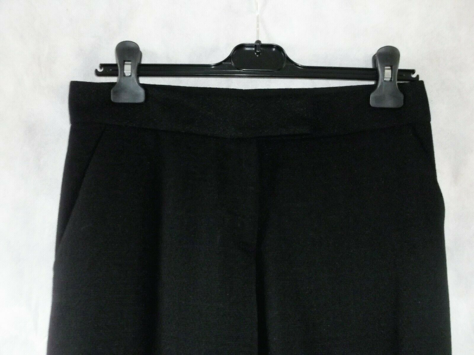 Tamara Mellon wide leg leg leg schwarz trousers unfinished hem up to 32 leg length Größe 8 a5f981